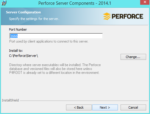 perforce-install-port