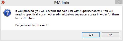 perforce-p4admin-superuser-connection