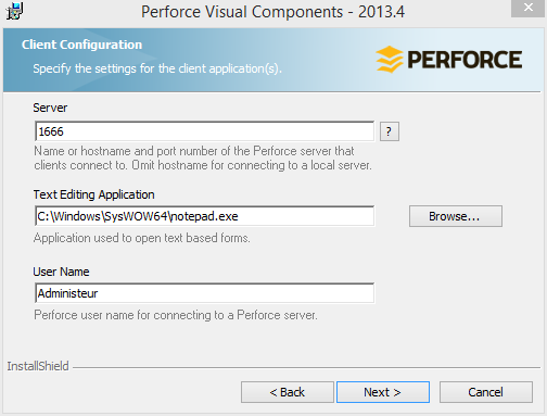 perforce-client-install-settings