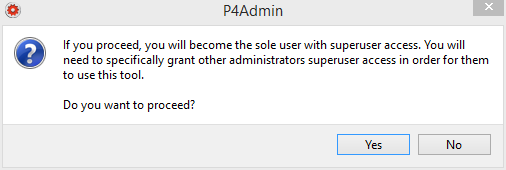 perforce-p4admin-superuser-connection