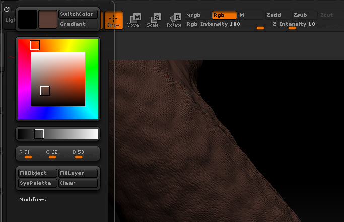 zbrush_tree_tutorial_fill_color_object